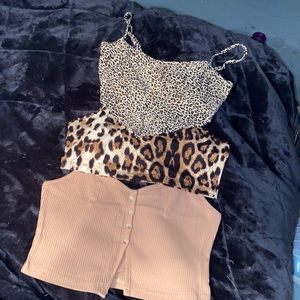 Bundle of 3 NWT summer crop tops